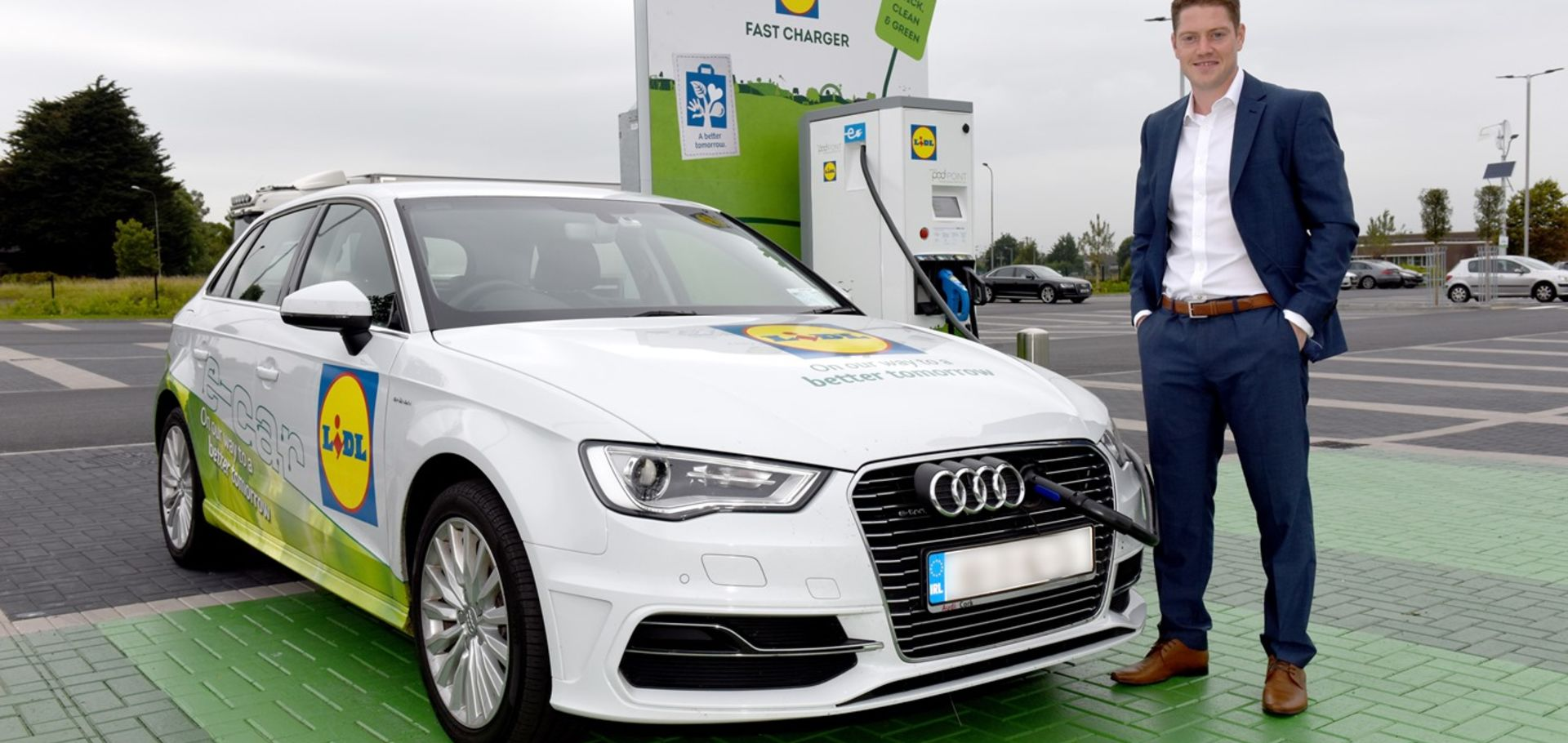 Lidl Ireland with Alan Barry  and new electric car charging points