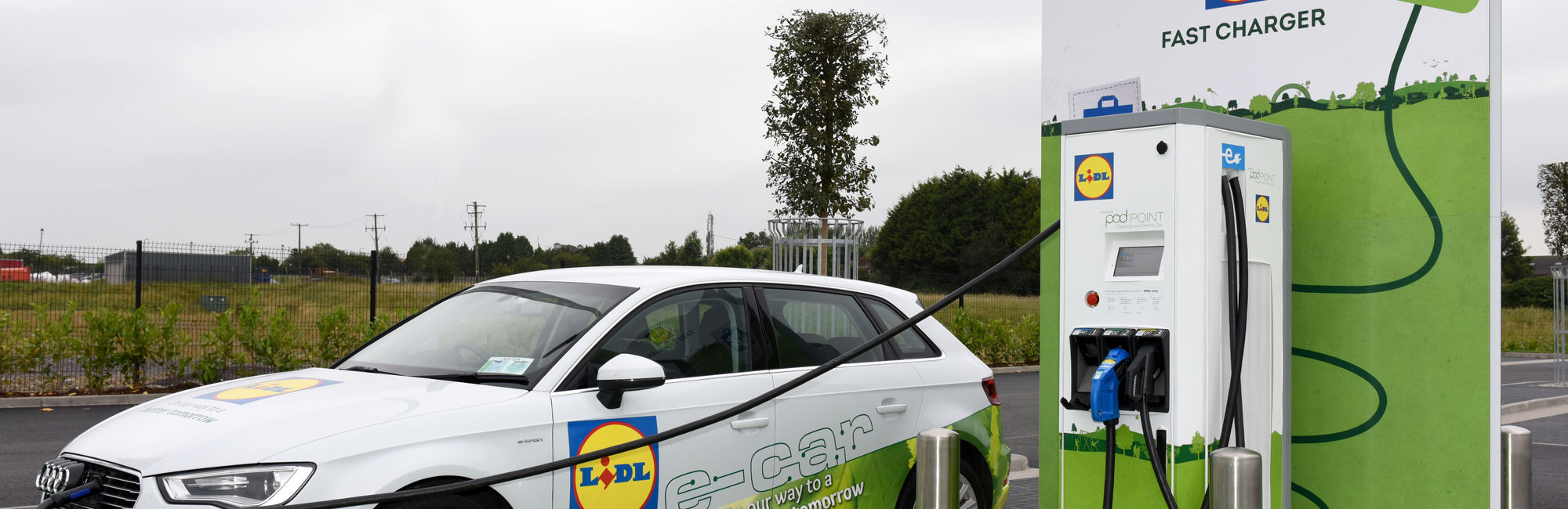 Lidl Ireland commits to the largest network of electric vehicle charging