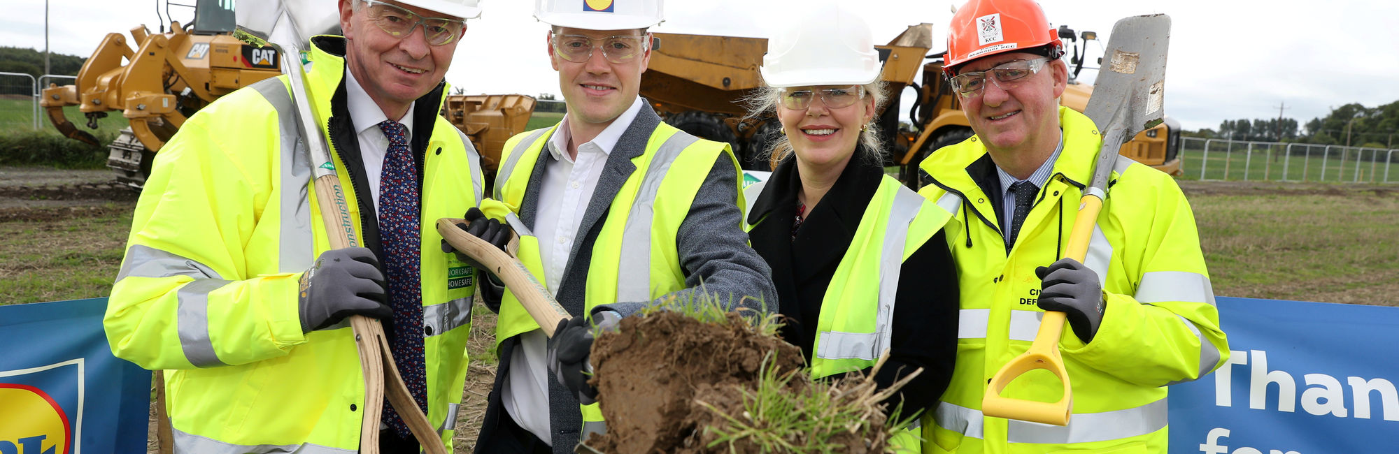 Lidl Ireland sod turning in Newbridge