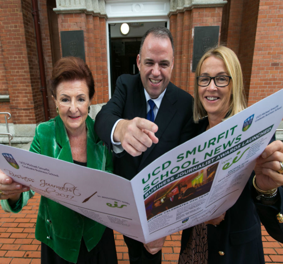 Launch of the business journalist awards breege donoghue orlagh nevin 2017