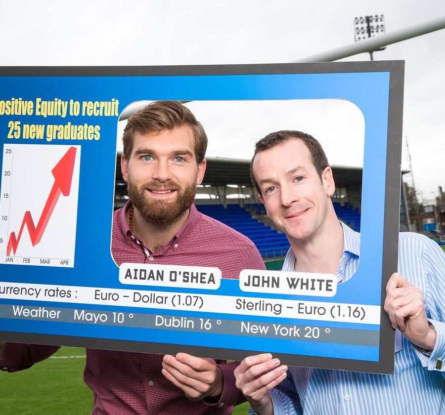 Positive Equity Aidan O' Shea and John White at the launch of their graduate recruitment programme
