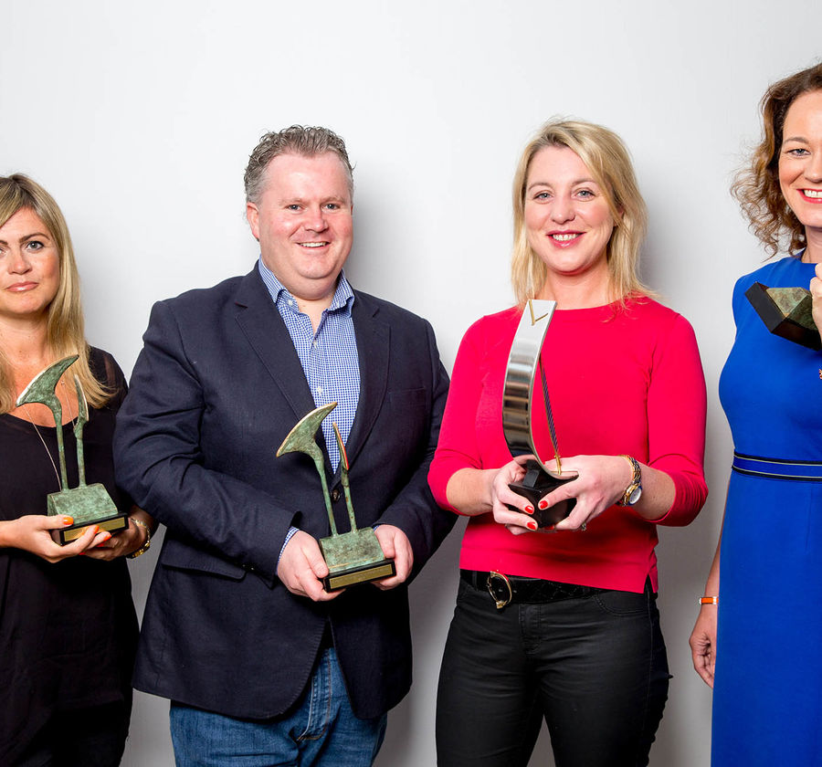 Suzie o dea niall quinn sarah brewer and catherine walsh win at pr awards 2017