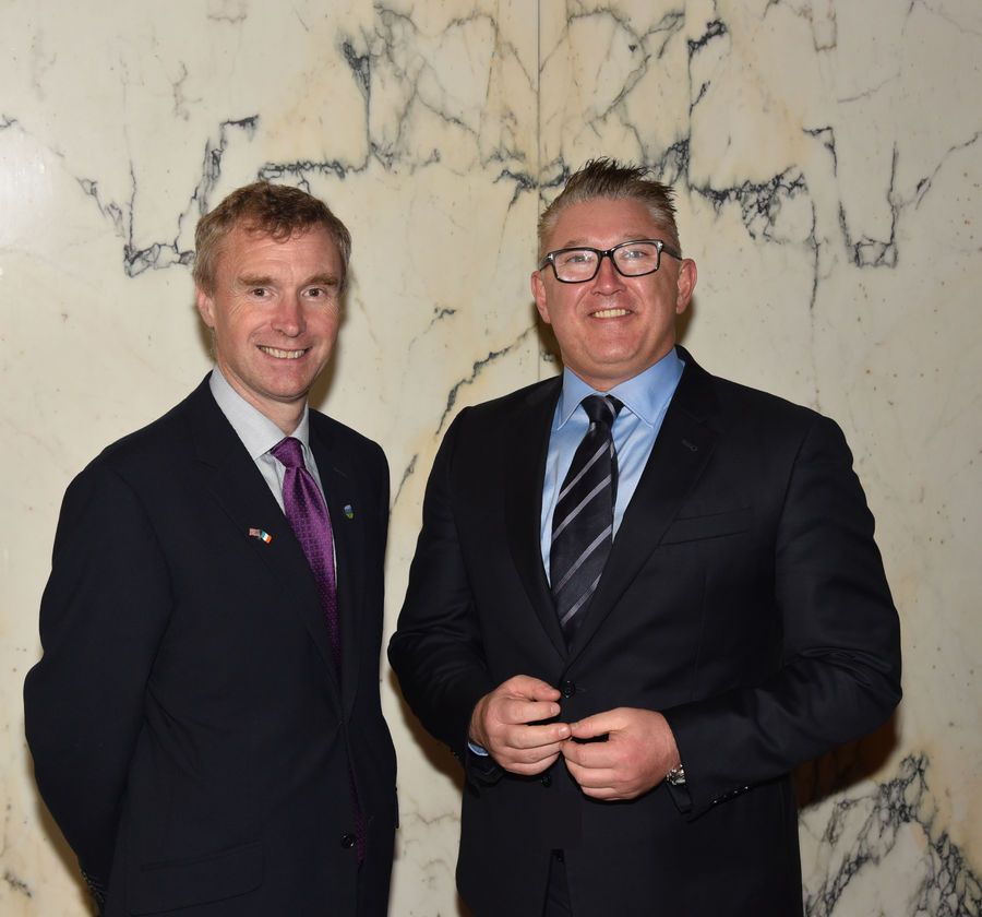 Professor Anthony Rabazon Dean UCD College of Business and Liam FitzGerald incoming chair of the UCD Michael Smurfit Graduate Business School Irish Advisory Board